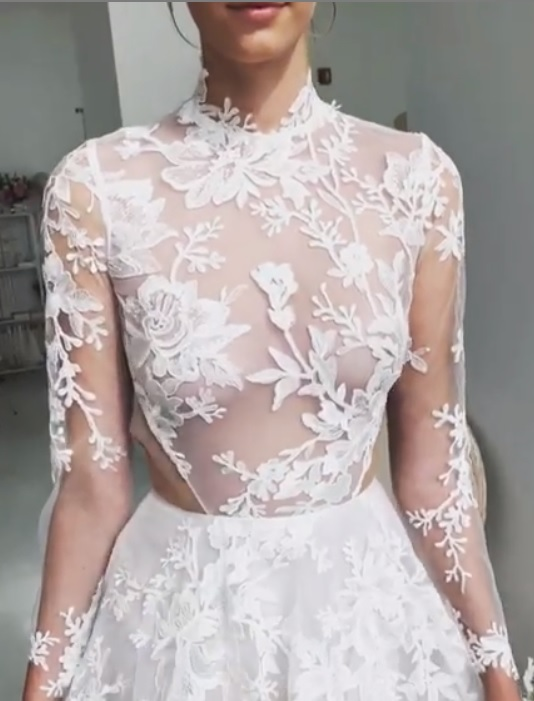 Muriel: Ivory Floral Embroidery Lace
