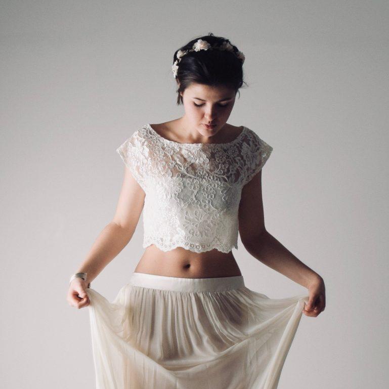 Miranda: Ivory Corded Lace