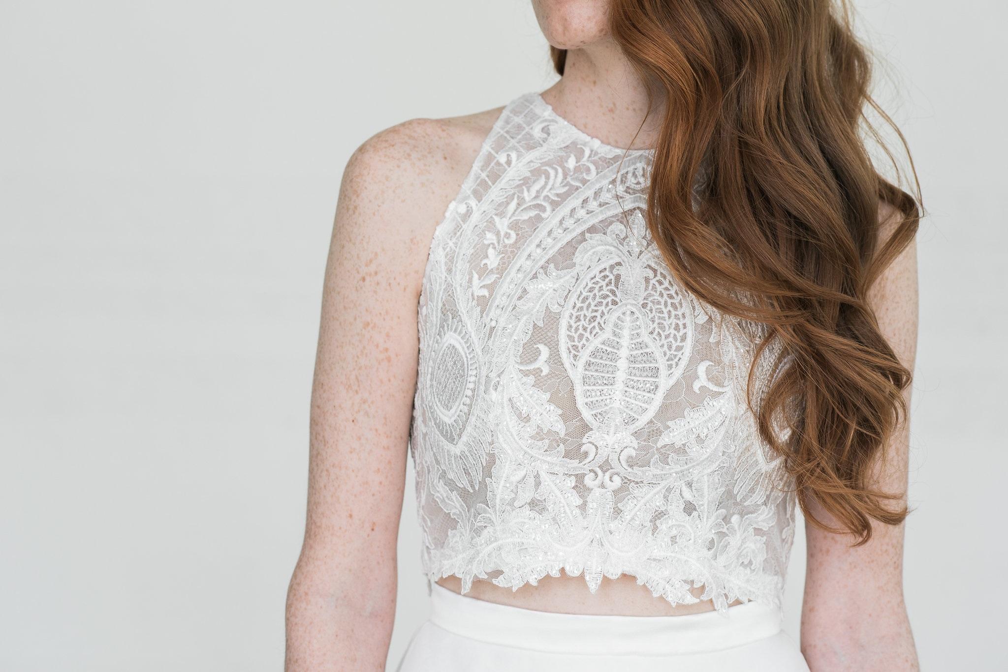 Charvi lace top. Bridal Separates