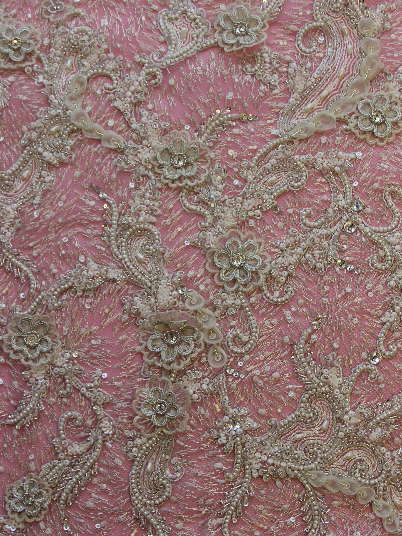 Ivory Beaded Lace - Lanisha