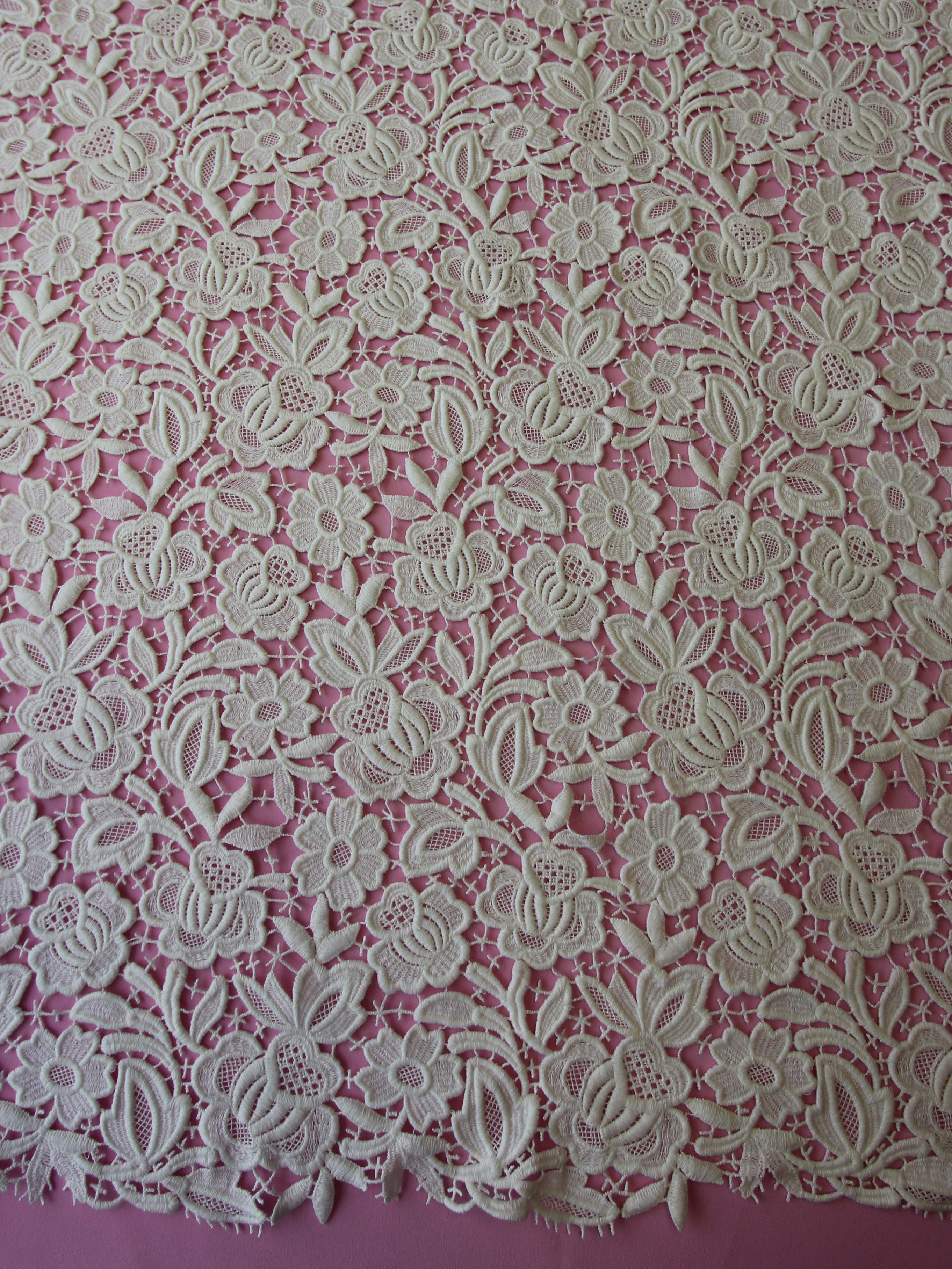 Ivory Embroidered Lace - miracle