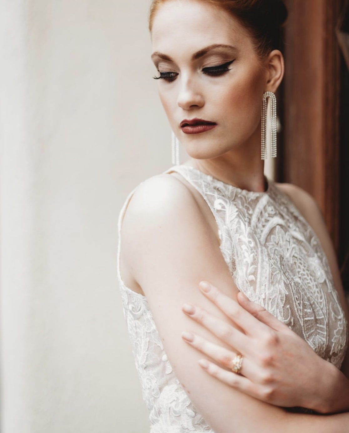 Charvi: Ivory Corded Lace