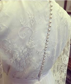 Jamie: Ivory Beaded Lace