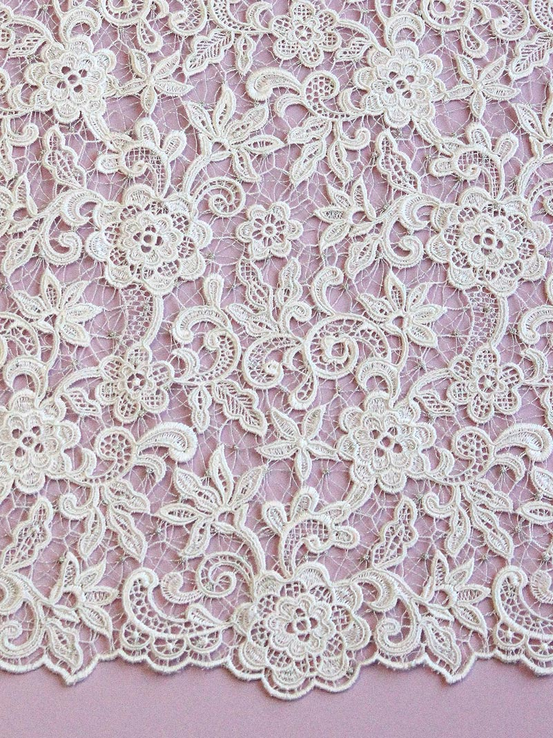 Maroon Beaded Lace - lucy