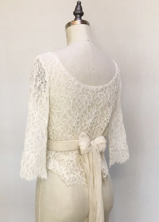 Dimitra: Ivory Corded Lace