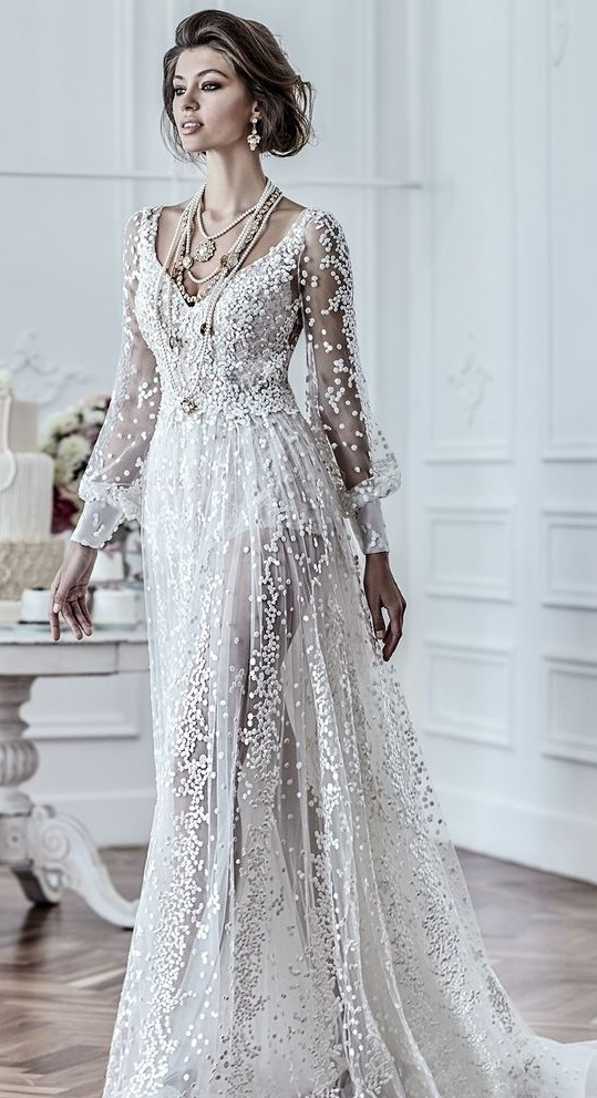 Gabby: Ivory Embroidered Lace